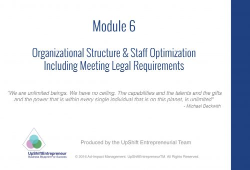 Module 6 How to structure your organization